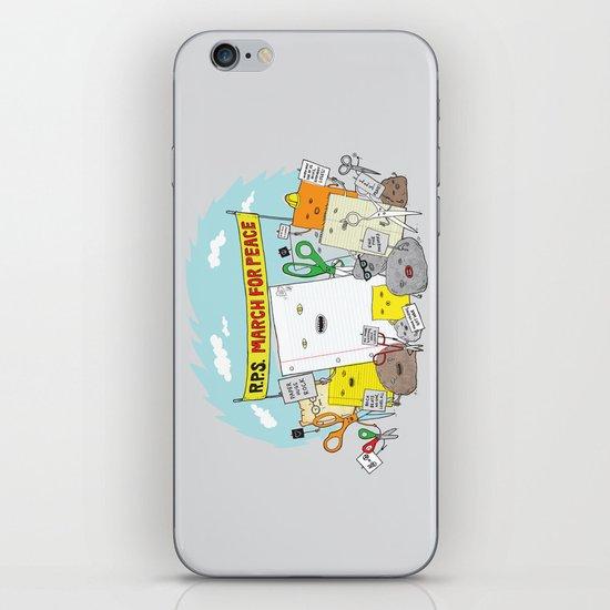 Paper Hugs Rock iPhone & iPod Skin