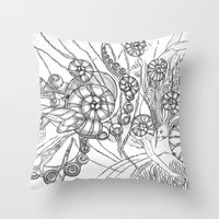 Back To The Water / Orig… Throw Pillow