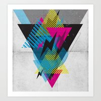 Shape Shock Art Print