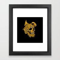 Real Brass Framed Art Print