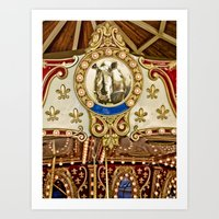 Rhinocerous Carousel At … Art Print