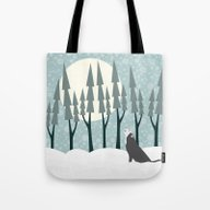 The Wolf Month Tote Bag