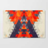 Abstract Triangle Mounta… Canvas Print