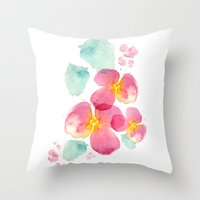 Eastern bloom Throw Pillow