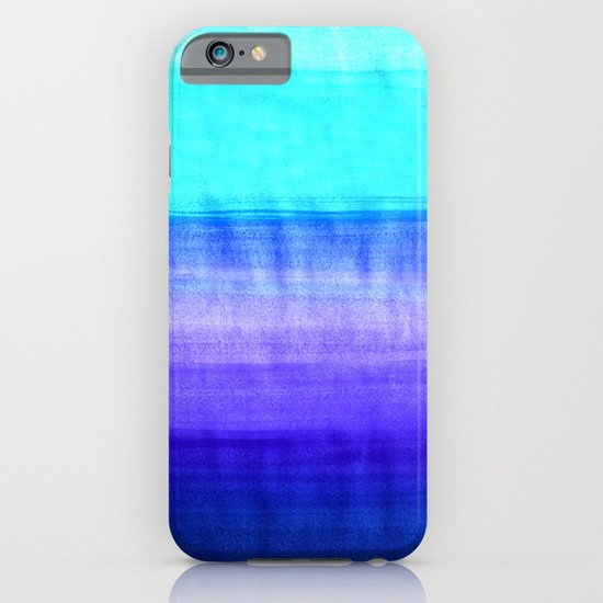 Ocean Horizon - cobalt blue, purple & mint watercolor abstract iPhone & iPod Case