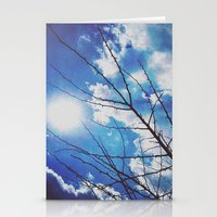 Thorns On Blue Stationery Cards