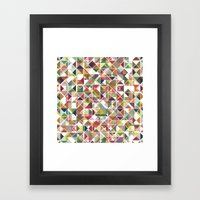 Chromatic Grid Framed Art Print