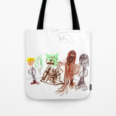 Space Opera in Crayon Tote Bag