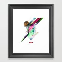 Glitchin Sane 001 Framed Art Print