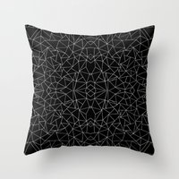 Abstract Collide Outline… Throw Pillow