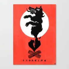 Black Dog: Exorcise Canvas Print