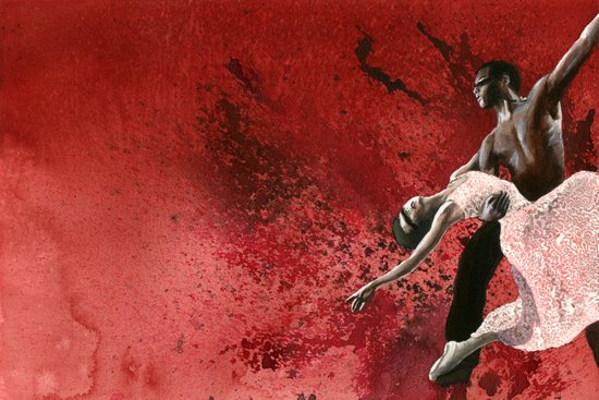 Ballet in Burgundy Art Print
