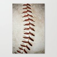 Vintage Baseball Stitchi… Canvas Print