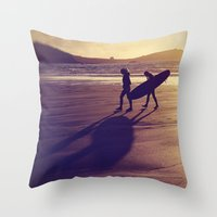 Long Shadows and High Hopes Throw Pillow