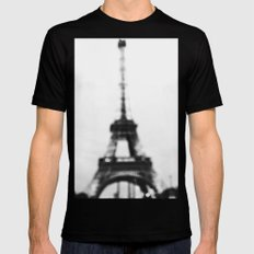 Eiffel out of focus Mens Fitted Tee SMALL Black