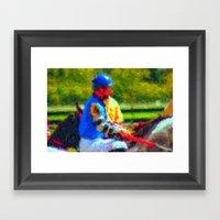 The Jockey Framed Art Print