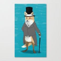 19th century fox Canvas Print