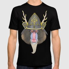 Samurai Mandrill Black SMALL Mens Fitted Tee