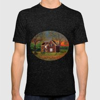 Old Farmhouse  Mens Fitted Tee Tri-Black SMALL