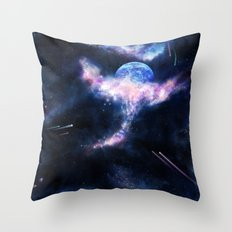 Space Scene Zero One Throw Pillow
