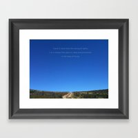 Travel Is More Than The … Framed Art Print