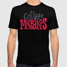 Collage of Mistakes Black SMALL Mens Fitted Tee