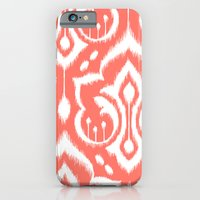 iPhone & iPod Case featuring Ikat Damask Coral by Patty Sloniger