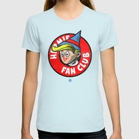 HERMIE FAN CLUB Womens Fitted Tee Light Blue SMALL