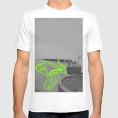 Endless Beds(1) SMALL White Mens Fitted Tee