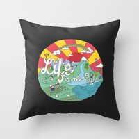 Life Is All Right (Color… Throw Pillow