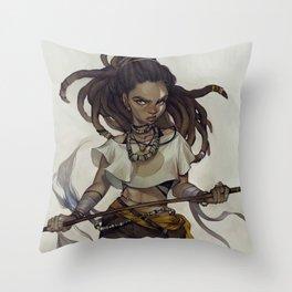 Throw Pillow - huntress - loish