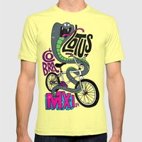 Lotus BMX Mens Fitted Tee Lemon SMALL
