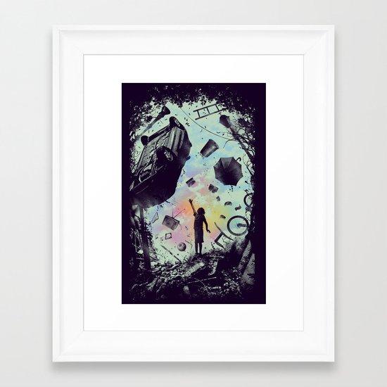 Gravity Play Framed Art Print