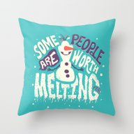 Throw Pillow featuring Worth Melting For by Risa Rodil