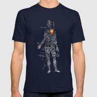 Travel With Me Mens Fitted Tee Navy SMALL