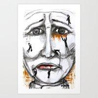 friends in need  Art Print