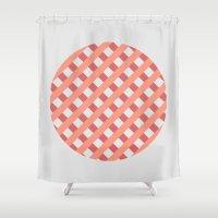 striped circle I Shower Curtain