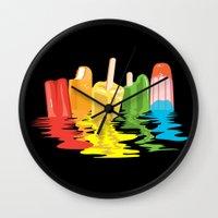 Summer Of Melted Dreams Wall Clock