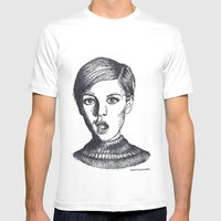 twiggy Mens Fitted Tee White SMALL