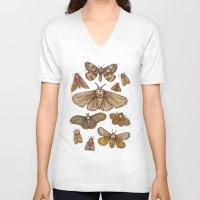 Moths Unisex V-Neck