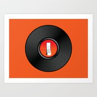 Off The Record Art Print
