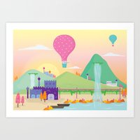somewhere far away Art Print
