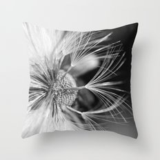Dandelion seeds Throw Pillow