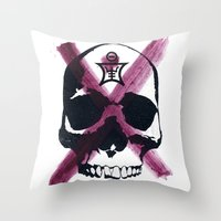 Shaman Skull Throw Pillow