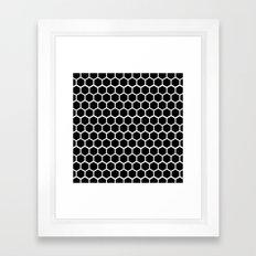 Graphic_Cells Black&White Framed Art Print