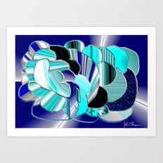 Blueness Art Print