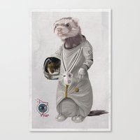Ferreting in Space Canvas Print