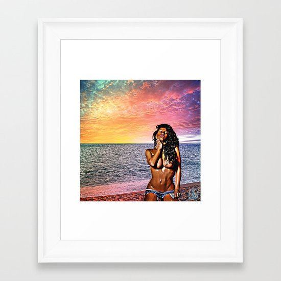 Wish You were here... Version 3 Framed Art Print