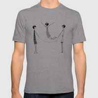 Flappers playing jump rope Mens Fitted Tee Athletic Grey SMALL