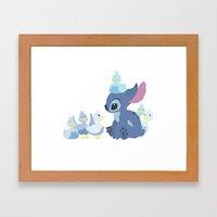 Team Stitch Framed Art Print